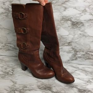 FRYE BOOTS Fiona Three Strap heeled boot size 6